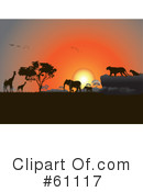 African Animals Clipart #61117 by pauloribau