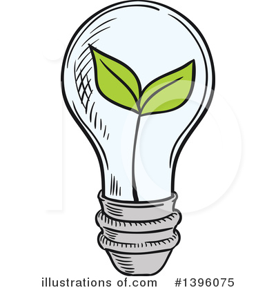 Light Bulb Clipart #1396075 by Vector Tradition SM