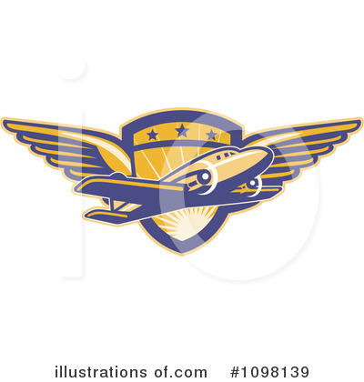 Airlines Clipart #1098139 - Illustration by patrimonio