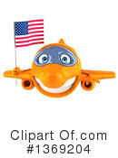 Airplane Character Clipart #1369204 by Julos