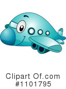 Royalty-Free (RF) Airplane Clipart Illustration #1101795