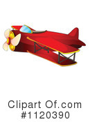 Royalty-Free (RF) Airplane Clipart Illustration #1120390