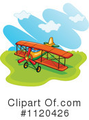 Royalty-Free (RF) Airplane Clipart Illustration #1120426