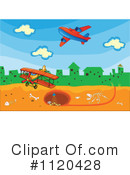 Royalty-Free (RF) airplane Clipart Illustration #1120428