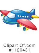 Royalty-Free (RF) Airplane Clipart Illustration #1120431