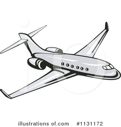 Royalty-Free (RF) Airplane Clipart Illustration by patrimonio - Stock Sample #1131172