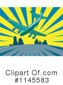 Royalty-Free (RF) Airplane Clipart Illustration #1145583