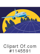 Royalty-Free (RF) Airplane Clipart Illustration #1145591