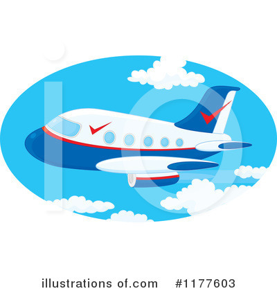 Airplane Clipart #1177603 by Alex Bannykh