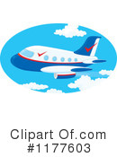 Royalty-Free (RF) Airplane Clipart Illustration #1177603
