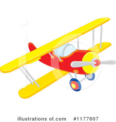 Royalty-Free (RF) Airplane Clipart Illustration by Alex Bannykh - Stock Sample #1177607