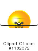Royalty-Free (RF) Airplane Clipart Illustration #1182372