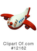 Royalty-Free (RF) Airplane Clipart Illustration #12162