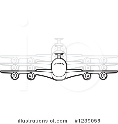 Airplane Clipart #1239056 by Lal Perera