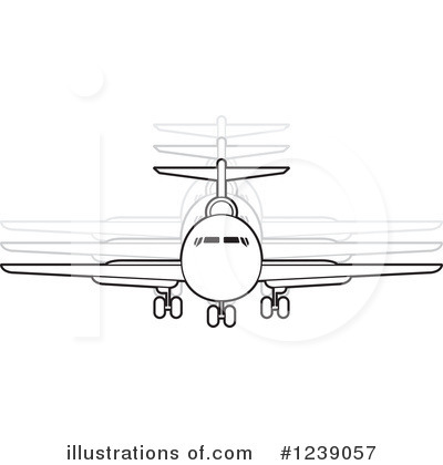 Airplane Clipart #1239057 by Lal Perera
