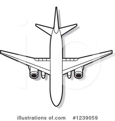 Airplane Clipart #1239059 by Lal Perera