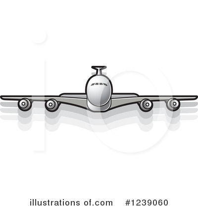 Airplane Clipart #1239060 by Lal Perera