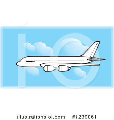 Airplane Clipart #1239061 by Lal Perera