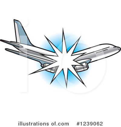 Airplane Clipart #1239062 by Lal Perera