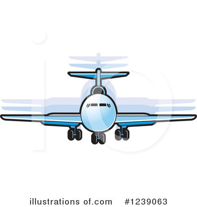 Airplane Clipart #1239063 by Lal Perera
