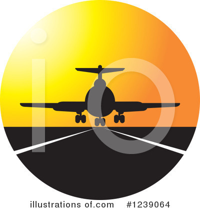 Airplane Clipart #1239064 by Lal Perera