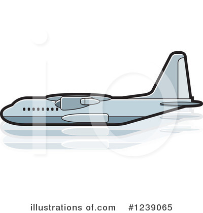 Airplane Clipart #1239065 by Lal Perera