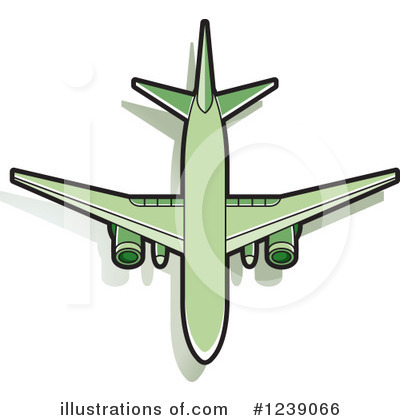 Airplane Clipart #1239066 by Lal Perera