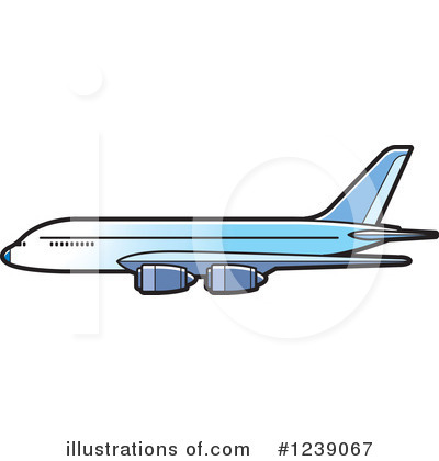 Airplane Clipart #1239067 by Lal Perera