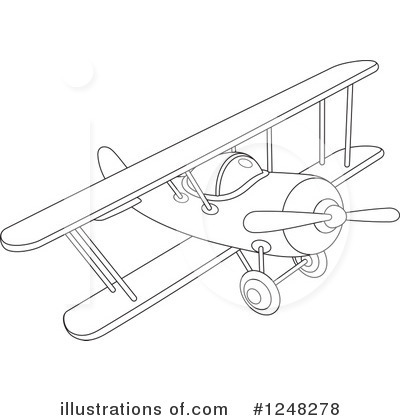 Airplane Clipart #1248278 by Alex Bannykh