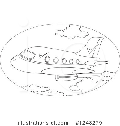 Airplane Clipart #1248279 by Alex Bannykh