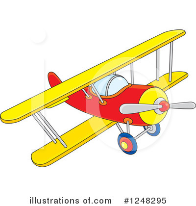 Airplane Clipart #1248295 by Alex Bannykh