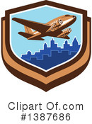 Royalty-Free (RF) Airplane Clipart Illustration #1387686