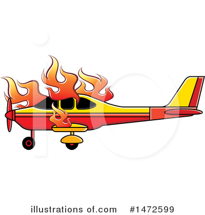 Airplane Clipart #1472599 by Lal Perera