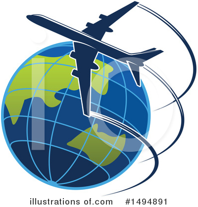 Airplane Clipart #1494891 by Vector Tradition SM