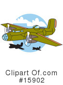 Royalty-Free (RF) Airplane Clipart Illustration #15902