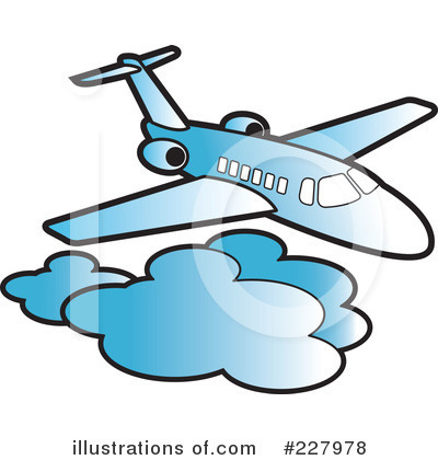Airplane Clipart #227978 by Lal Perera