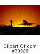 Royalty-Free (RF) Airplane Clipart Illustration #30828