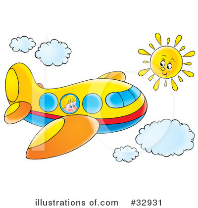 Airplane Clipart #32931 by Alex Bannykh