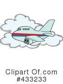 Royalty-Free (RF) Airplane Clipart Illustration #433233