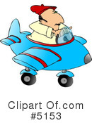 Royalty-Free (RF) Airplane Clipart Illustration #5153