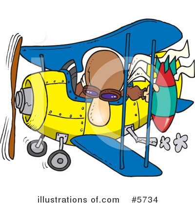 Royalty-Free (RF) Airplane Clipart Illustration by Ron Leishman - Stock Sample #5734