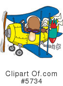 Royalty-Free (RF) Airplane Clipart Illustration #5734