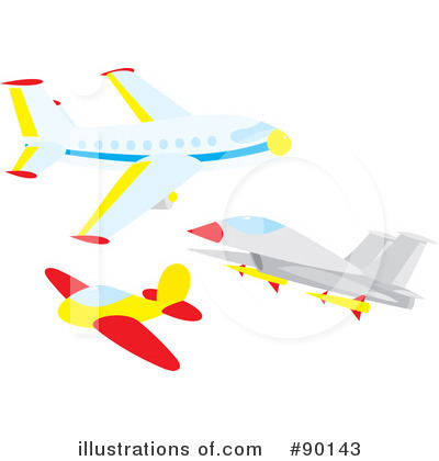 Airplane Clipart #90143 by Alex Bannykh
