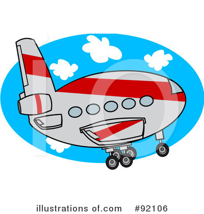 Airplane Clipart #92106 by djart