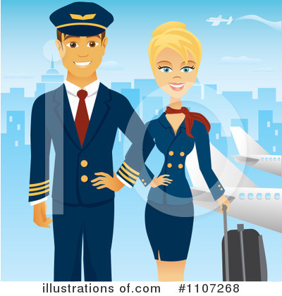 Stewardess Clipart #1107268 by Amanda Kate