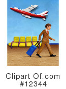Royalty-Free (RF) Airport Clipart Illustration #12344