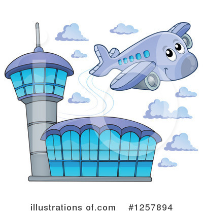 Airplane Clipart #1257894 by visekart