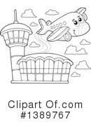 Airport Clipart #1389767 by visekart