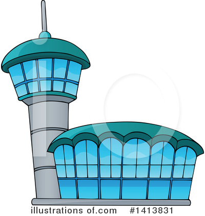 Airport Clipart #1413831 by visekart