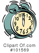 Royalty-Free (RF) Alarm Clock Clipart Illustration #101569